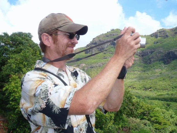K12 educator David Muñoz frames a Hawaiian hill.