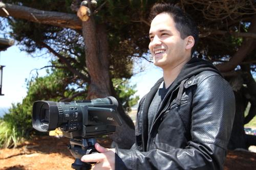Product Designer Marcos Nolan surveys a landscape.