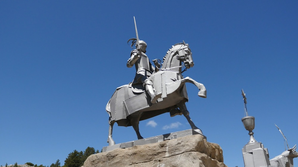 Spain Statue Knight At Source Of The Tajo◹
