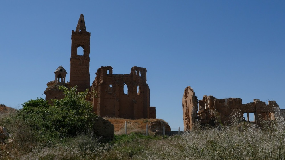 Spain Belchite Bombed Out Church Monument◹