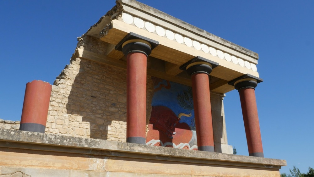 Greece Crete Knossos Restored Portico Good◹