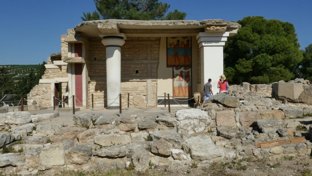Greece Crete Knossos Grand Propylaea Of Palace◹