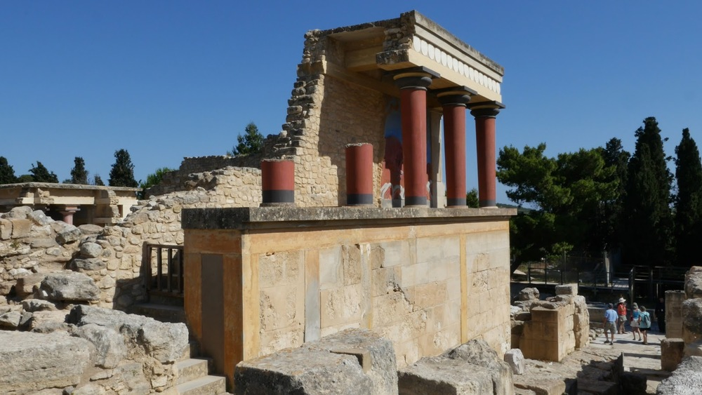 Greece Crete Knossos Restored Ruin Section◹