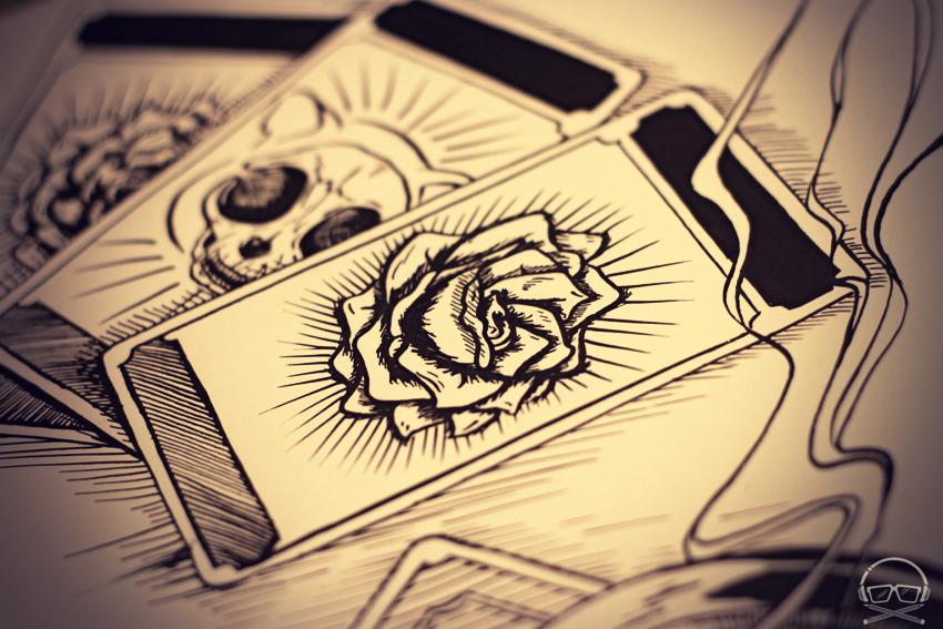 Una de las Rosas para el artwork del nuevo álbum de Le Chat Lunatique