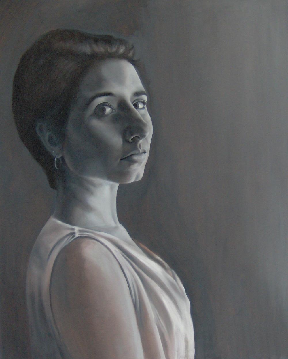 Grisaille Self-Portrait