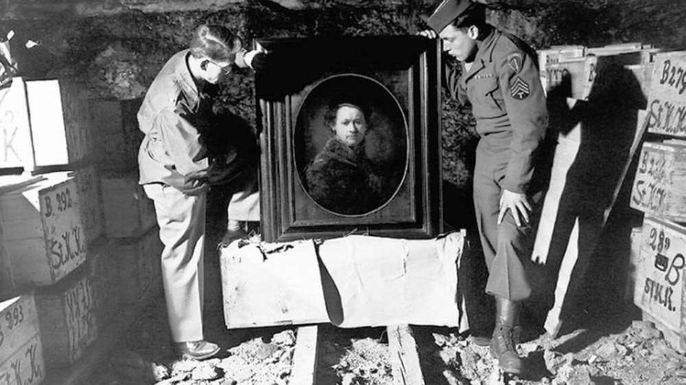 Stolen by Nazis, a Rembrandt is recovered as a part of the Monuments Men effort during WWII.