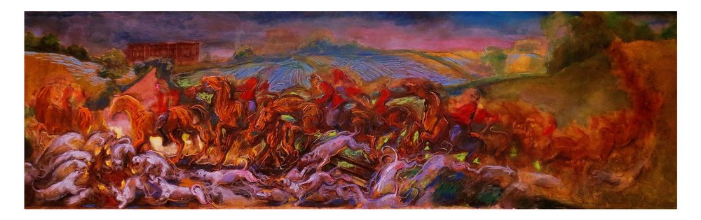 Laura Footes,The Hunt,2014, pastel