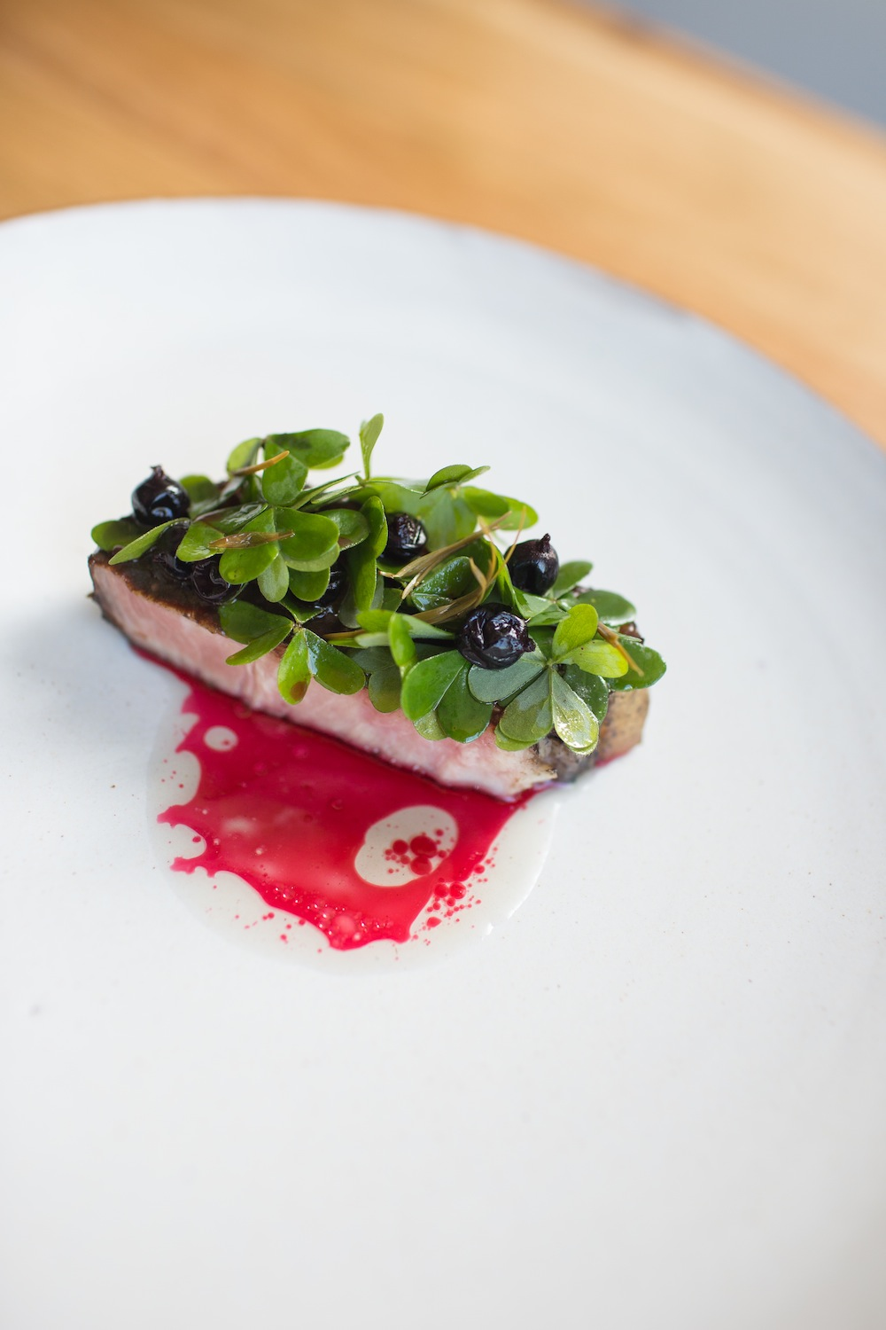 Heritage black pork, black garlic | Greta Kenyon