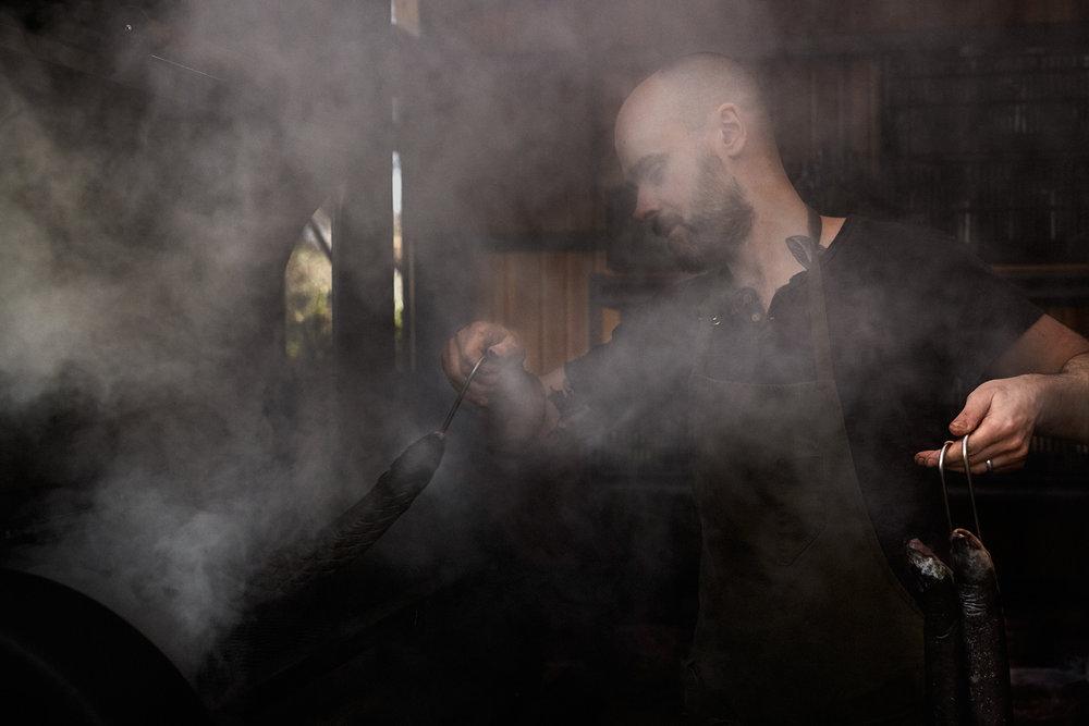 Smoking freshwater eel | Aaron Mclean