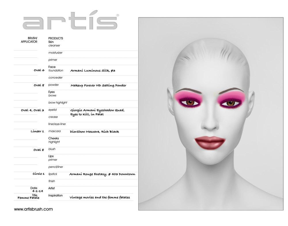 Femme Fatale, Face Chart