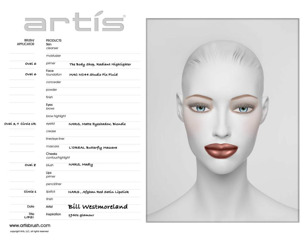LIPS! Face Chart