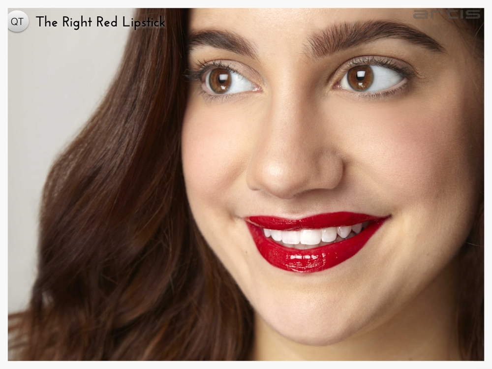 THE RIGHT RED LIPSTICK
