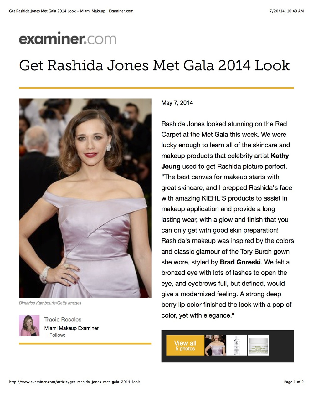 Get Rashida Jones Met Gala 2014 Look - Miami Makeup _ Examiner.com.jpg