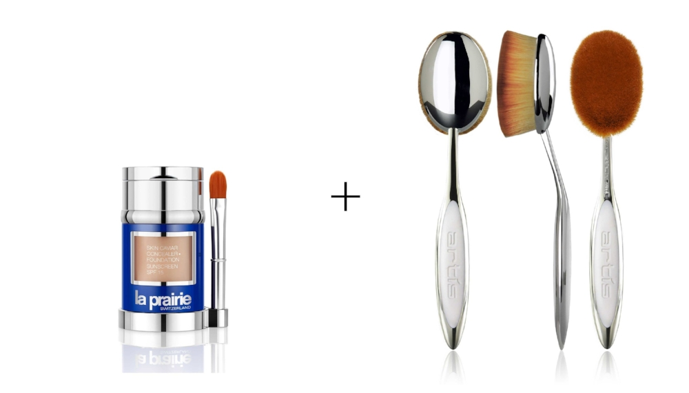 LA PRAIRIE SKIN CAVIAR CONCEALER/FOUNDATION      &      ELITE MIRROR OVAL 8, AND/OR ELITE MIRROR OVAL 4