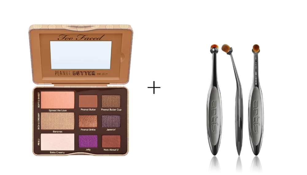 TOO FACED PEANUT BUTTER AND JELLY PALETTE    &    ELITE SMOKE CIRCLE 1R