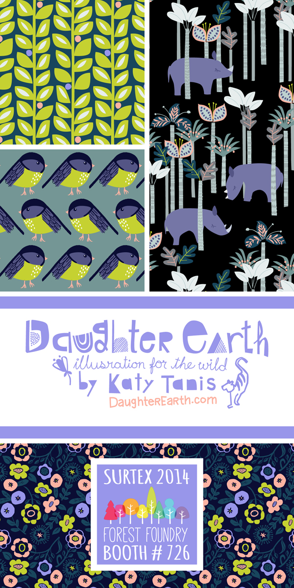 Surtex 2014 Flyer for Daughter Earth