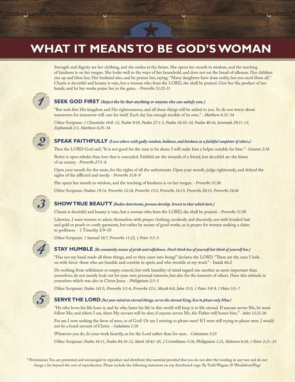 5 Characteristics of a Godly Women