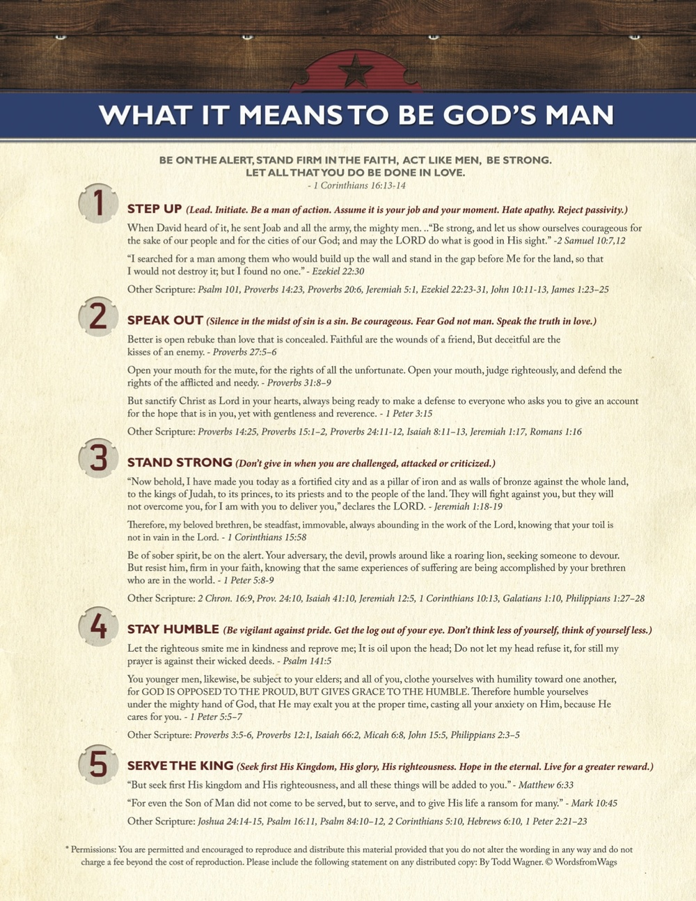 5 Characteristics of a Godly Man