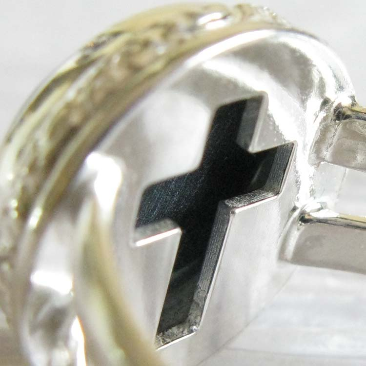 Miracle ~ Glass cremation ring sterling silver jewelry with cross (7).jpg