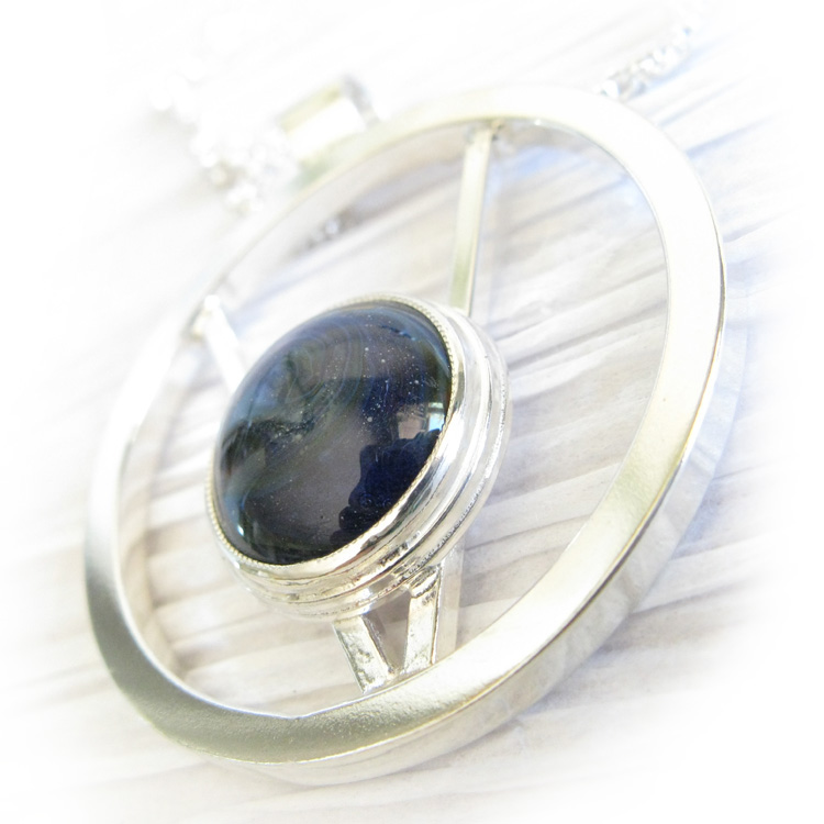 Halo ~ Glass cremation jewelry sterling silver artistic pendant necklace (5).jpg
