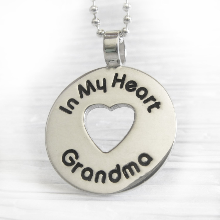 In my heart memorial necklace engraved pendant in sterling silver in my heart memorial necklace engraved pendant in sterling silver locked in art aloadofball Choice Image