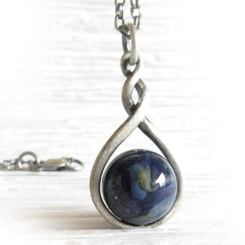 Eternity glass cremation ashes memorial pendant necklace sterling eternity glass cremation ashes memorial pendant necklace sterling silver mozeypictures Choice Image