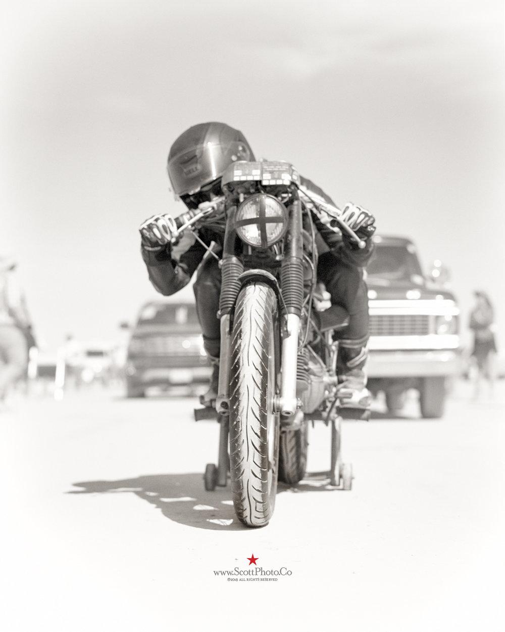 Stacie B. London El Mirage Dry Lake Bed Sunday, June 10, 2018  1967 Harley Davidson (Aermacci)