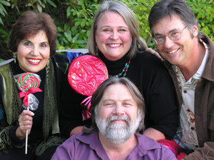 Tim Cain, Miss Kitty, Chris Smith and Cindy Cohen