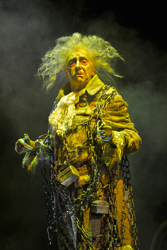 Ken Ruta as the Ghost of Jacob Marley in A Christmas Carol at A.C.T.'s Geary Theater. Photo by Kevin Berne