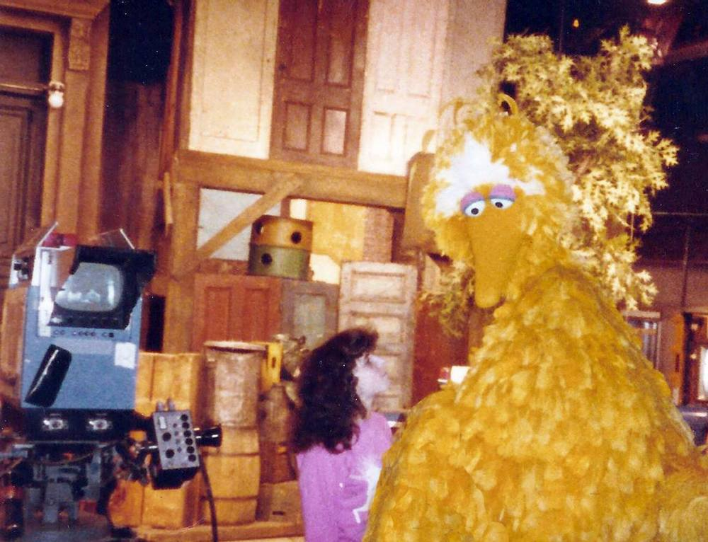 Ronnie and Big Bird (Caroll Spinney)