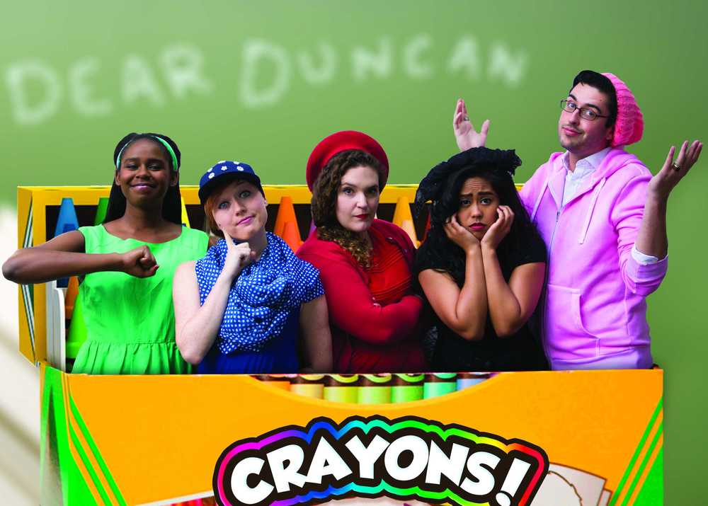 Jacqueline Dennis as Green, Chloe Condon as Blue, Anna Smith as Red, Carina Salazar as Black, and Brett Jones as Pink