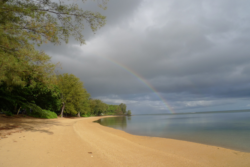 Rainbow Over Anini Beach