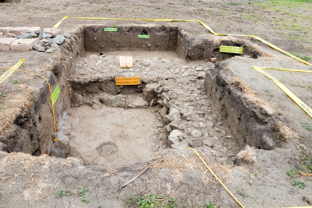 Excavated Site Adjacent to the Officers Club