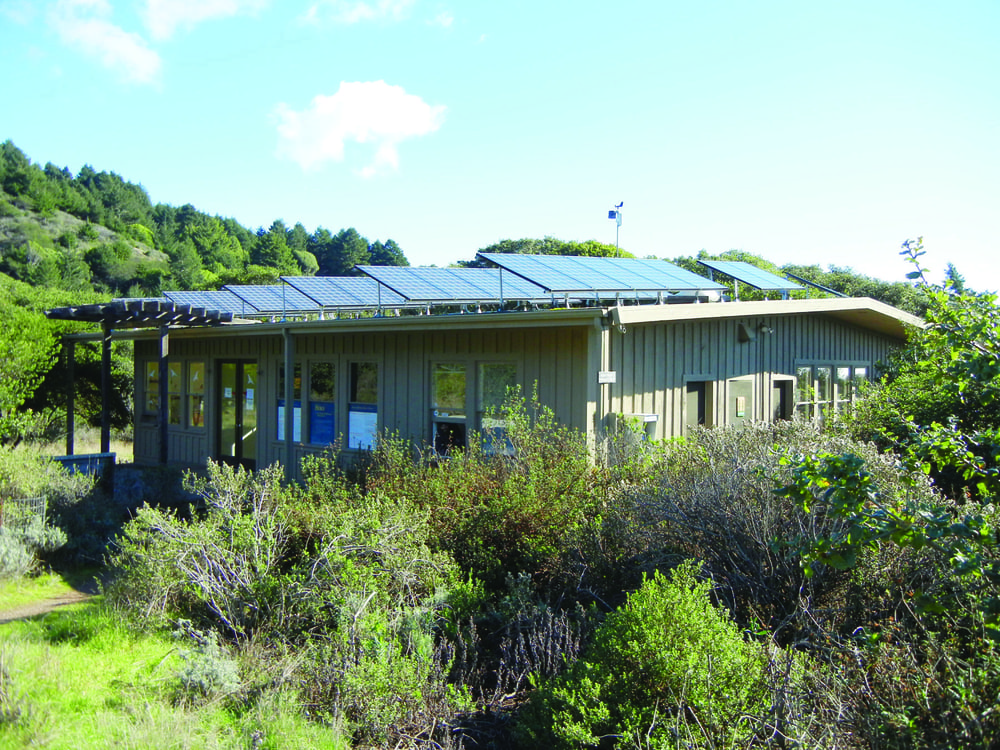 Point Blue's Palomarin Field Station, equipped with solar panels and low-flow toilets. credit: Point Blue
