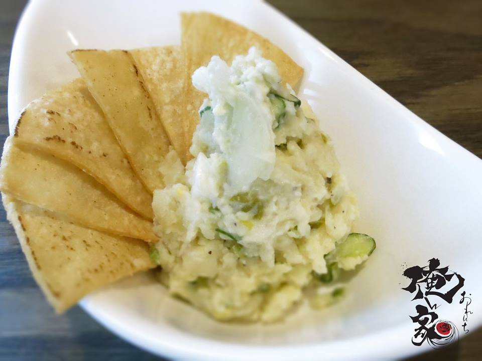 Orenchi's one-of-a-kind Wasabi Potato Salad