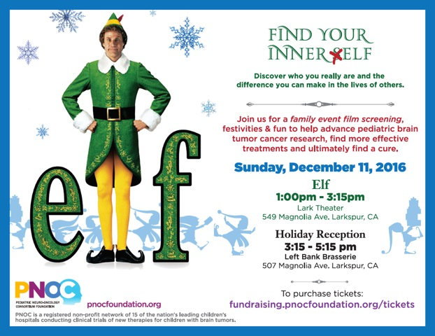 'Elf' Fundraiser For The Pacific Pediatric Neuro-Oncology Consortium Foundation