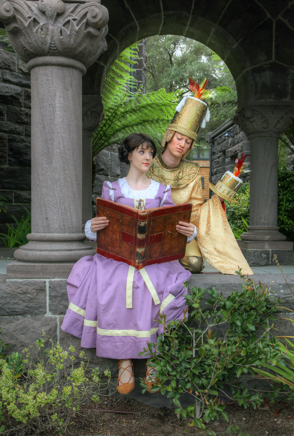 Mountain Play's Beauty and the Beast – Photos by: Ed Smith  Chelsea Holifield (Belle) and Zachary Isen (Lumière)