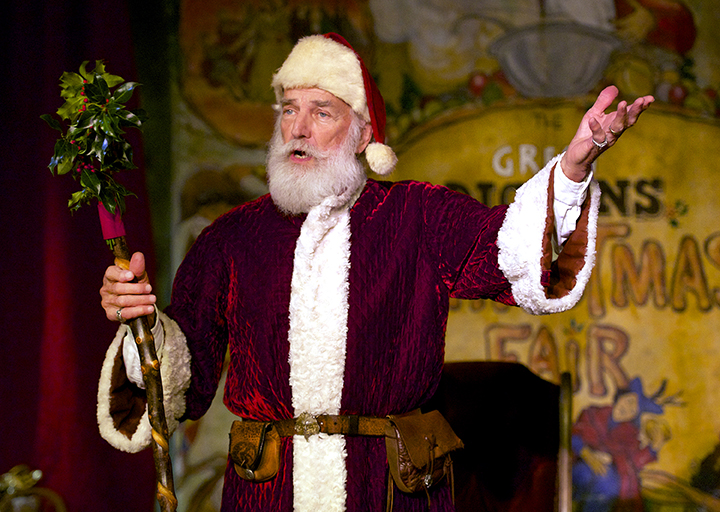 Father Christmas holds forth daily on the Father Christmas Stage, inviting all good children to join him for a lasting holiday photo memento. Photo credit: Rich Yee