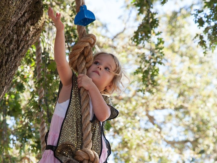 The Knights Quest - Be knighted by our Marin Waldorf School Queen or King after testing your strength through a rope course.