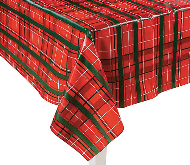 """""""Green"""" Holiday Meal - Lay the Foundation for a """"Green"""" Holiday Meal. Use a cloth tablecloth or a washable plastic tablecloth instead of purchasing single-use paper tablecloths. There are so many option! Just look at this cute Plaid Christmas Plastic Tablecloth Roll from Oriental Trading.Upcycle cotton or cotton-blend fabric remnants into napkins.Food Scraps and food-soiled paper always go in the green compost bin."""