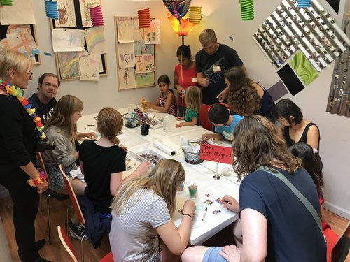KIDS HAVE BLAST - A dedicated staff member will instruct and inspire your group in the use of fused glass to ensure your party is a wonderful success. The room is yours for 1½ hours, which is the perfect amount of time to make a project, have food/cake and open presents - a no mess, no fuss turn key art party with over 100 art projects to fit every budget.