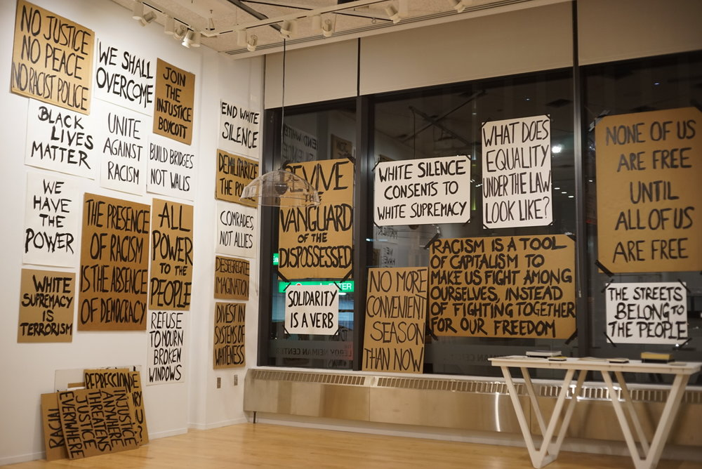 Joshi Radin and Greg Ruffing, Installation shot of  What Does Accountability Look Like? , 2016