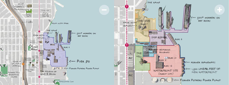 Pier 70 San Francisco Map.Context Pier 70