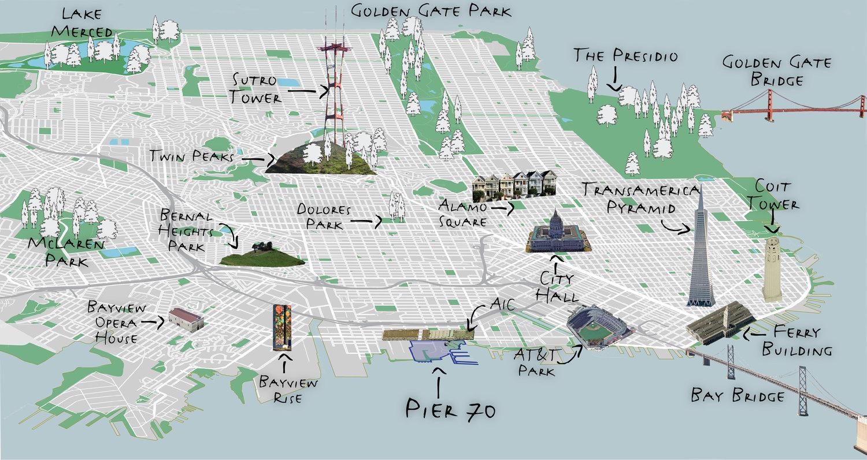 Pier 70 San Francisco Map Context — Pier 70 Pier 70 San Francisco Map