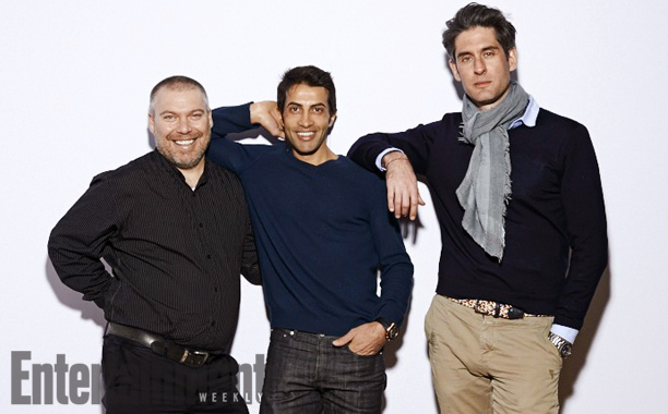 Gonen Ben-Itzhak (left), Mosab  Hassan  Yousef  (middle), Nadav Schirman (right)