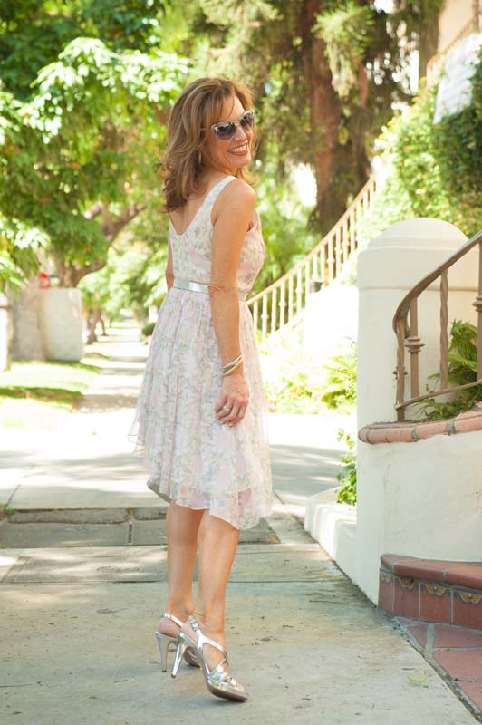 Elizabeth and James Dress, on sale    here   , J Crew Belt, Prada Sandals, Christian Dior Sunglasses.