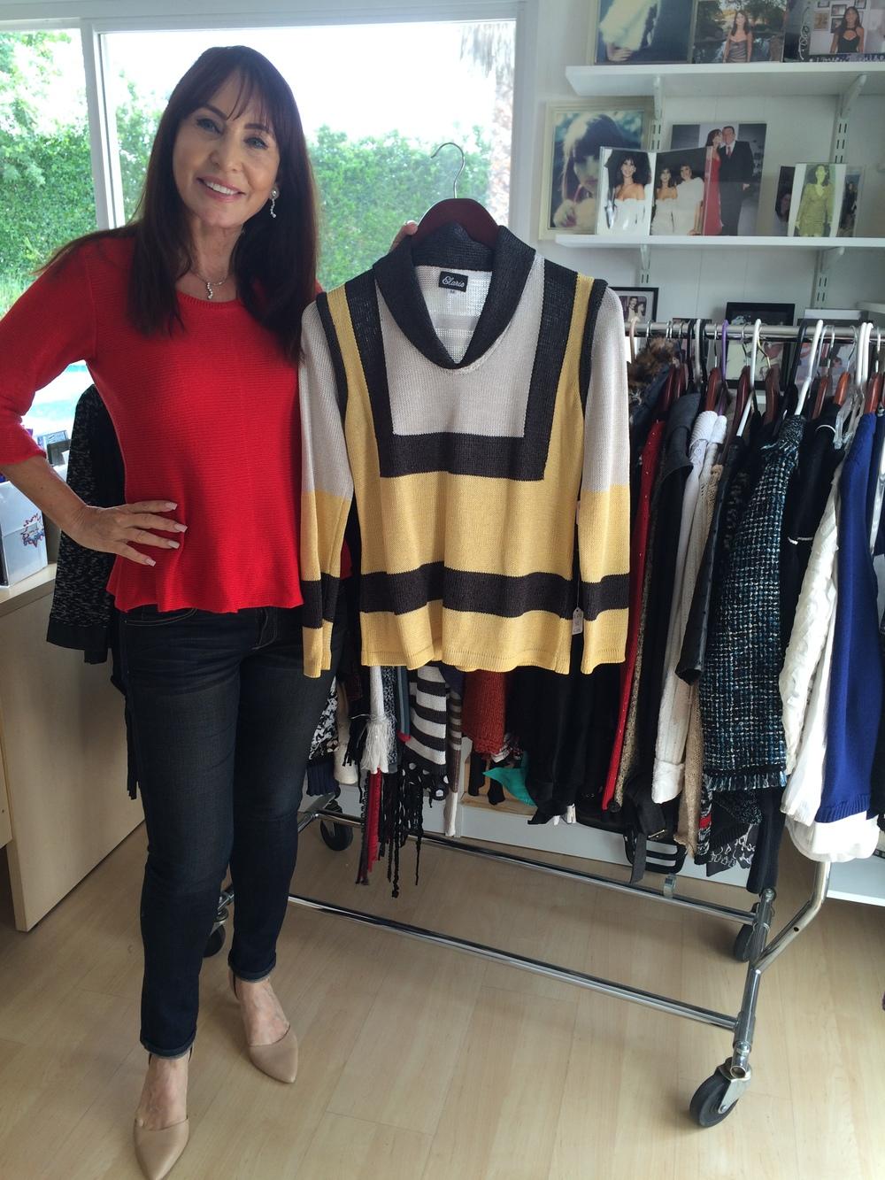 Hanna in her studio.