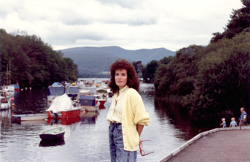 On our honeymoon in Scotland, 1987. Check out the high-rise-acid-wash-baggy jeans & boyfriend sweater!