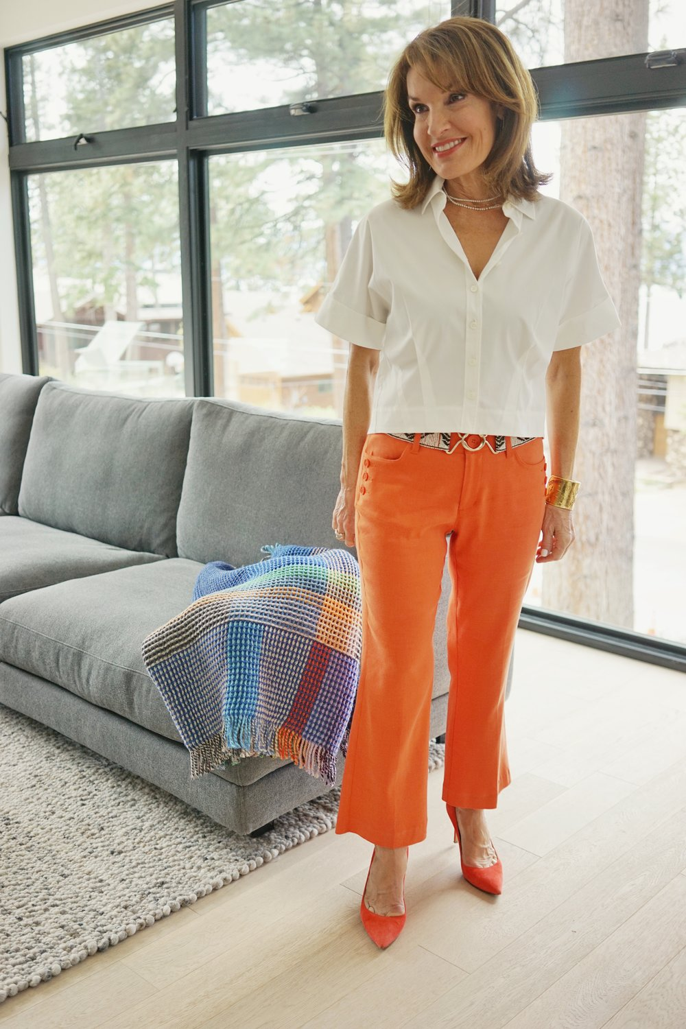 Theory blouse   , Sandro belt,    Cabi pants   , Gianvanito Rossi shoes,    similar here