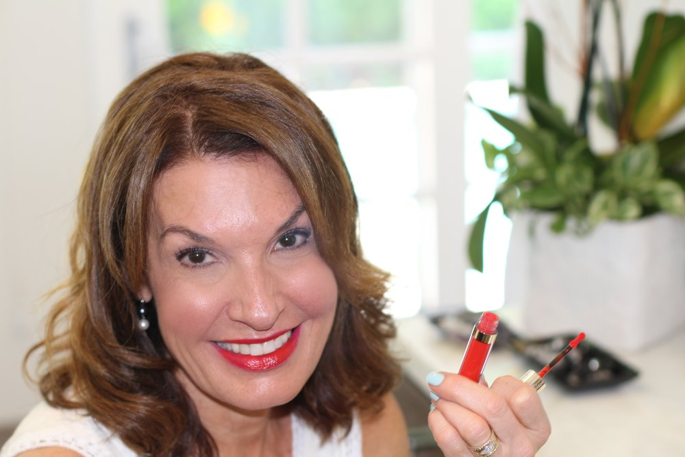 For an added punch of long lasting glossy color, I added this By Terry long wearing lip color/gloss Velvet Rouge #8.